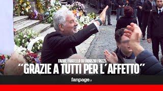 """Funerali Fabrizio Frizzi, il fratello Fabio: """"Grazie a tutti per l'affetto"""""""