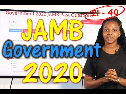 JAMB CBT Government 2020 Past Questions 21 - 40