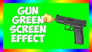 Pistol Shooting and Reload - Green Screen Effect