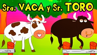 SEÑORA VACA Y SEÑOR TORO - canciones de la granja - Videos para NIños - Lunacreciente