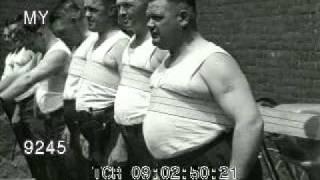 1930s Fat Men Use Mueller Exerciser Belt