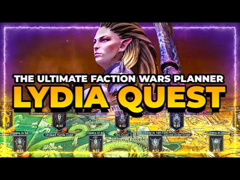 FACTION WARS PLANNER! Track your Lydia Quest! RAID Shadow Legends