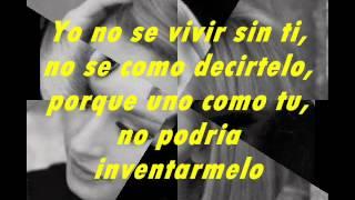 Rafaella Carra Yo no se vivir sin ti(Letra)