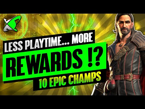 HOW I PLAY LESS... & GET MORE !? | 10 Everyday Epic Champions | RAID: Shadow Legends