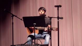 "VEHS 2017 Spring Guitar concert - Ryan sings ""Would You Wait for Me"" (Cover)"