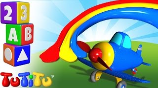 TuTiTu Pré-escolar | Aprender de cores em Inglês para Crianças | Avião
