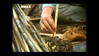 How to make fire with only two pieces of wood [with BEAR GRYLLS] (german)