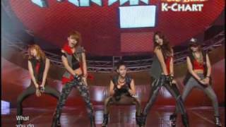 [K-Chart] 6. [-] Huh - 4minute (2010.6.11 / Music Bank Live)