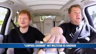 """Carpool Karaoke"" mit Weltstar Ed Sheeran"