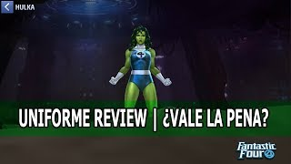[MARVEL Future Fight] She Hulk Fantastic 4 Uniforme Review | ¿Vale la Pena? width=