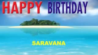 Saravana  Card Tarjeta - Happy Birthday