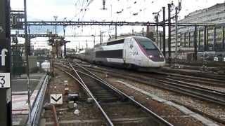 [Vidéo - Trains Réels] Départ d'un TGV Lyria de la gare de Paris-Lyon