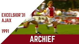 Screenshot van video ARCHIEF | Samenvatting Excelsior'31 - Ajax (Oefenwedstrijd 1991)