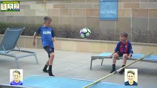 YOUNG RONALDO FOOTBALL/SOCCER TENNIS CHALLENGE!!! KICKIN COUSINS width=
