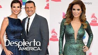 Karla Martínez y Alan Tacher se lucieron en la alfombra de Latin GRAMMY