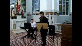 Ave Maria - Gounod - Piano e Sax Alto - Lucas Torres e Marcos P. Nicolau - Entrada das Alianças