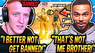 Tfue Might Get *BANNED* AGAIN After Being TROLLED By A *FAKE* Hamlinz Account...(Fortnite Moments)