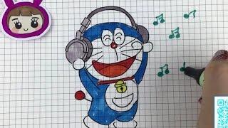 【可乐姐姐学画画】哆啦A梦听音乐