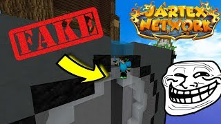Fake Water Trap !! ( Minecraft SkyWars )