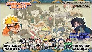 Naruto: Ultimate Ninja Opening and All Characters (PS2)