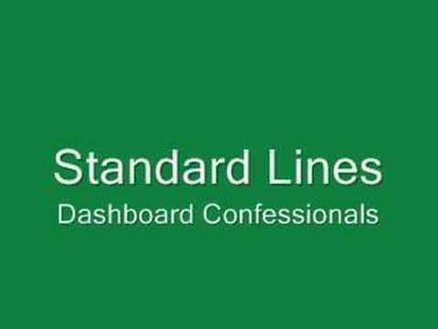 Standard Lines Dashboard Confessional Chords Chordify