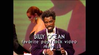 Billy Ocean wins Favorite Pop/Rock Video Male - AMAs 1987