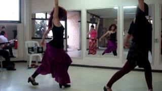 Farruca com guitarra - Video 1 - Aula de dança flamenca na Tijuca - Rio de Janeiro