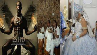 Orixá Exú Dançando com Yemanjá - candomblé