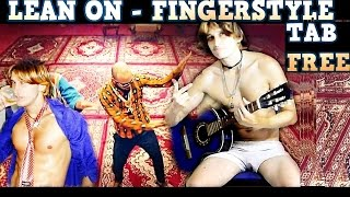 Lean On - Major Lazer & DJ Snake (Fingerstyle Guitar + TAB FREE) Eletric Acoustic guitar solo