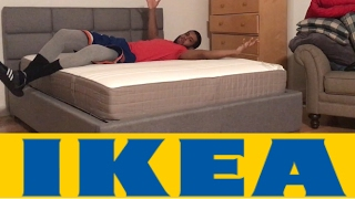 IKEA HAUGESUND MEDIUM FIRM SPRING QUEEN MATTRESS | BED REVIEW