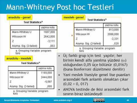 Sosyal Bilimlerde Araştırma Yöntemleri: 30 Non-Parametrik Testler II
