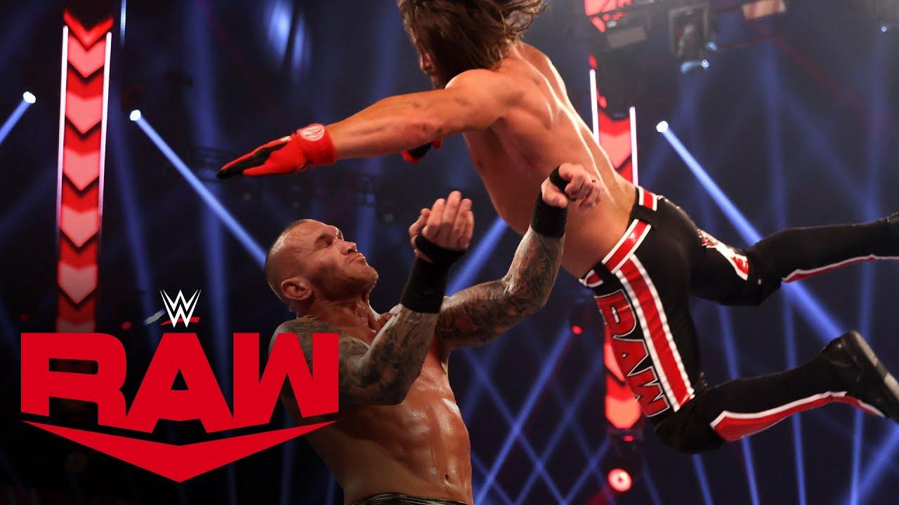 WWE - Randy Orton vs. AJ Styles – Winner Advances to Triple Threat Match: Raw, Nov. 23, 2020