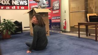 Christine gets pranked at the office