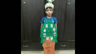 Show and tell My Family . He won 1st prise at Indraprastha International School .