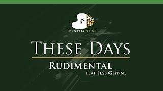 Rudimental - These Days feat. Jess Glynne - LOWER Key (Piano Karaoke / Sing Along)