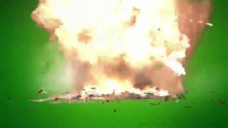 Green Screen - Rocket and Explosion