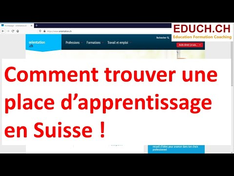 Trouver un apprentissage en Suisse Orientation.ch un excellent site d'information.