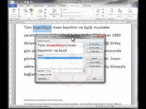 WORD 2010    27-Yazım ve Dilbilgisi Denetimi-2