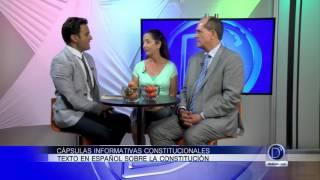 Cápsulas informativas constitucionales, texto en español sobre la constitución