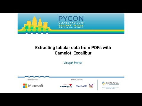 Extracting tabular data from PDFs with Camelot & Excalibur