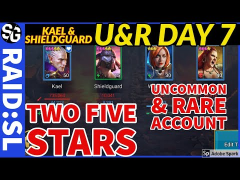RAID SHADOW LEGENDS | F2P DAY 7 | U&R | TWO FIVE STARS KAEL & SHIELDGUARD