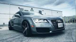 "Audi A7 on 20"" Vossen VVS-CV5 Concave Wheels / Rims"