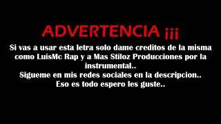 Muchas Gracias Madre 2//instrumental de rap con letra uso libre// 10 de Mayo