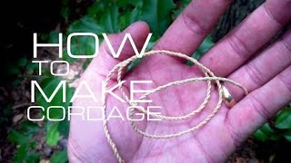 Black Scout Tutorials - Make Cordage from Natural Materials