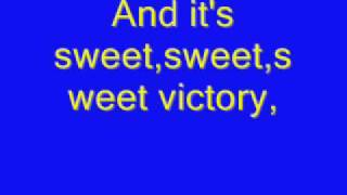 Sweet Victory [Lyrics] Spongebob