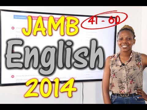 JAMB CBT English 2014 Past Questions 41 - 60