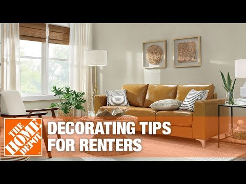 A video on decorating tips for renters