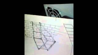 Drawing 3D tangga