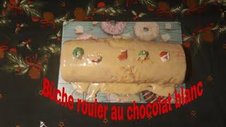 #buche#noel#réveillon Bûche rouler au chocolat blanc