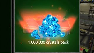 Tanki Online 1.000.000 Crystals Container?!